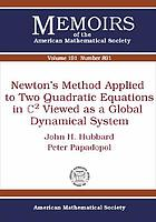 Newton's method applied to two quadratic equations in C² viewed as a global dynamical system