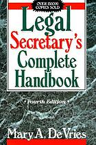 Legal secretary's complete handbook