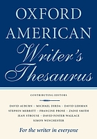 The Oxford American Writer's Thesaurus