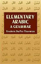 Elementary Arabic, first reading-book
