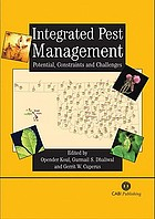 Integrated pest management : potential, constraints, and challenges