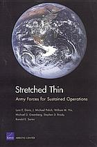 Stretched thin : Army forces for sustained operations