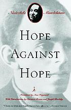 Hope against hope; a memoir