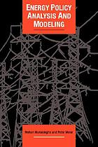 Energy policy analysis and modeling