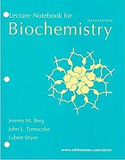 Lecture notebook for Biochemistry