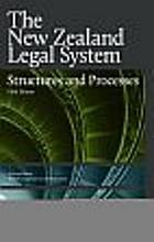 The New Zealand legal system : structures and processes