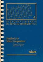 Handbook for matrix computations