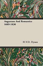 Augustans and romantics, 1689-1830