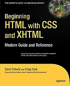 Beginning HTML with CSS and XHTML modern guide and reference