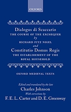 Dialogus de Scaccario = The course of the Exchequer