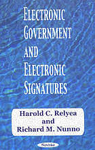 Electronic government and electronic signatures