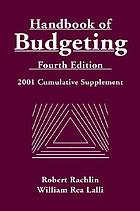 Handbook of budgeting, fourth edition : 2001 cumulative supplement