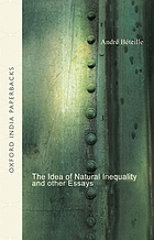 The idea of natural inequality and other essays