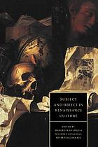 Object and subject in renaissance culture