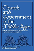 Church and government in the Middle Ages : essays presented to C.R. Cheney on his 70th birthday