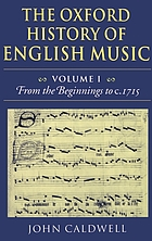 The Oxford history of English music
