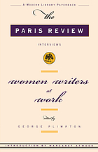 Writers at work, the Paris review interviews
