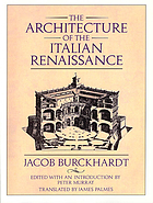 The architecture of the Italian Renaissance