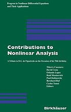 Contributions to nonlinear analysis a tribute to D.G. de Figueiredo on the occasion of his 70th birthday