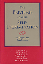 The privilege against self-incrimination : its origins and development