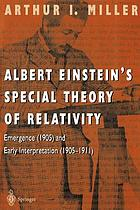 Albert Einstein's special theory of relativity : emergence (1905) and early interpretation, 1905-1911