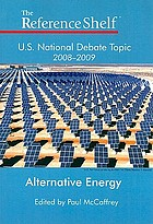 U.S. national debate topic, 2008-2009 : alternative energy