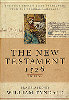 The New Testament : a facsimile of the 1526 edition