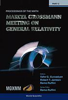 "The Ninth Marcel Grossmann Meeting : on recent developments in theoretical and experimental general relativity, gravitation, and relativistic field theories : proceedings of the MGIX MM meeting held at the University of Rome ""La Sapienza"", 2-8 July 2000"