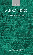 Menander : a rhetor in context