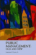 Public management : old and new
