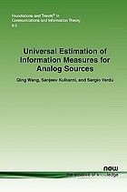 Universal estimation of information measures for analog sources