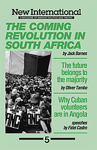 The coming revolution in South Africa