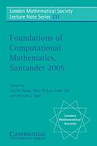 Foundations of computational mathematics, Santander 2005