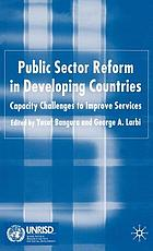 Public sector reform in developing countries : capacity challenges to improve services