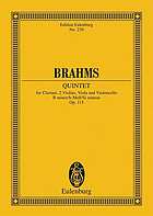Quintet in B minor for clarinet, 2 violins, viola and violoncello, op. 115