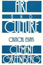 Art and culture; critical essays