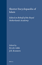 Shorter encyclopaedia of Islam