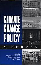 Climate change policy a surveyClimate change policy a survey