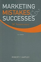 Marketing mistakes and successes : 30th anniversary