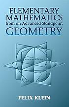 Elementary mathematics from an advanced standpoint : geometry