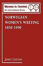 Norwegian women's writing, 1850-1990