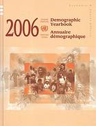 Demographic yearbook. Annuaire démographique