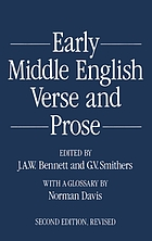 Early Middle English verse and proseEarly middle English verse and prose