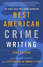 Best American crime writing 2003