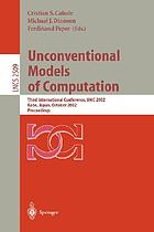 Unconventional models on computation : third international conference, UMC 2002, Kobe, Japan, October 15-19, 2002 : proceedings