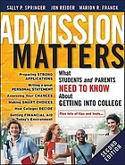 Admission Matters: What Students and Parents Need to Know About Getting int