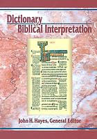 Dictionary of biblical interpretation