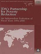 IDA's partnership for poverty reduction : an independent evaluation of fiscal years, 1994-2000