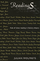 Readings acts of close reading in literary theory