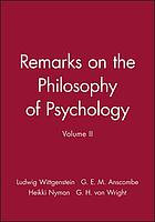 Bemerkungen über die Philosophie der Psychologie = Remarks on the philosophy of psychology